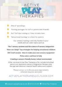 Sensory training flyer